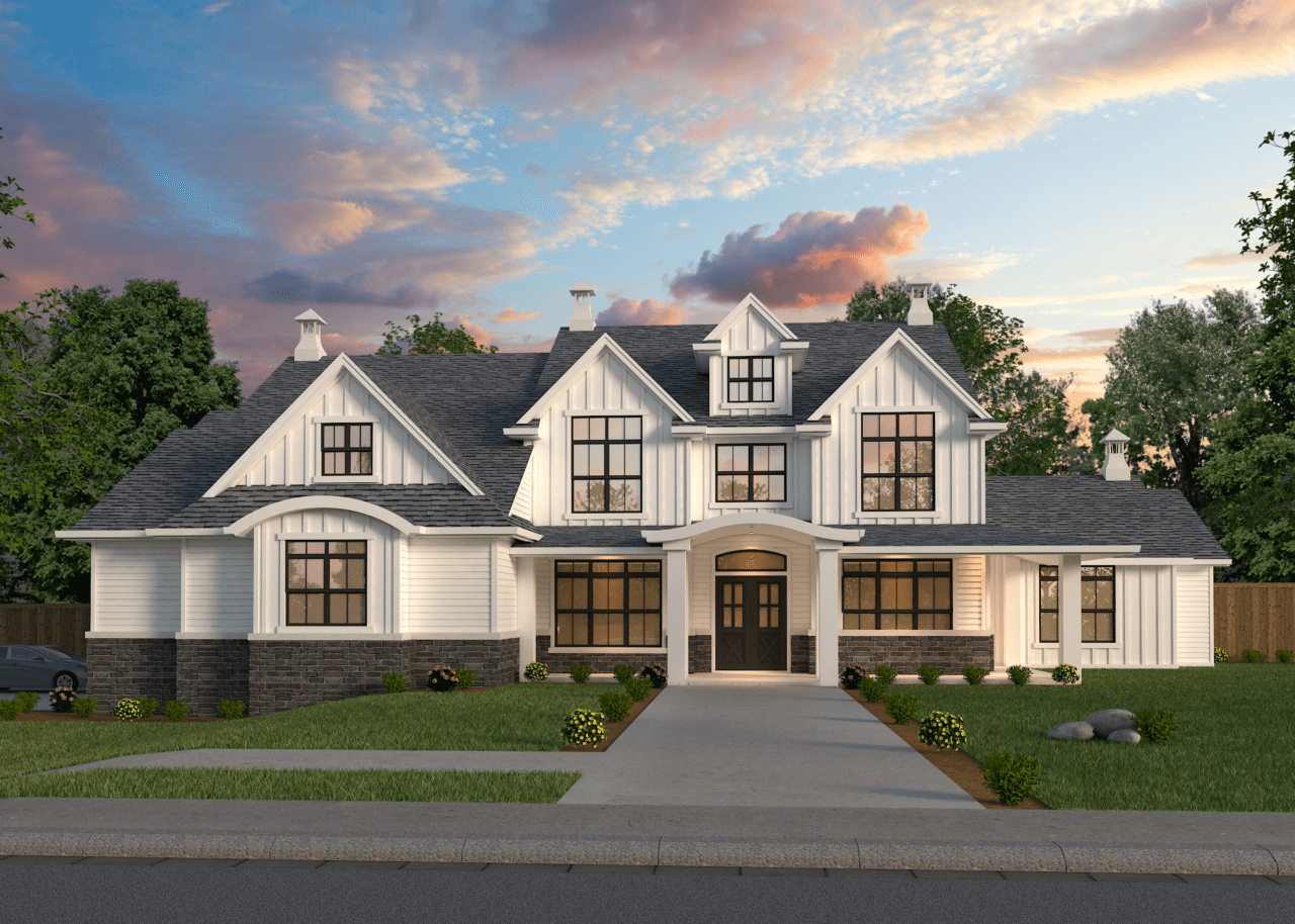 West Coast Eastgate House Plan | 2-Story Modern Farmhouse ...