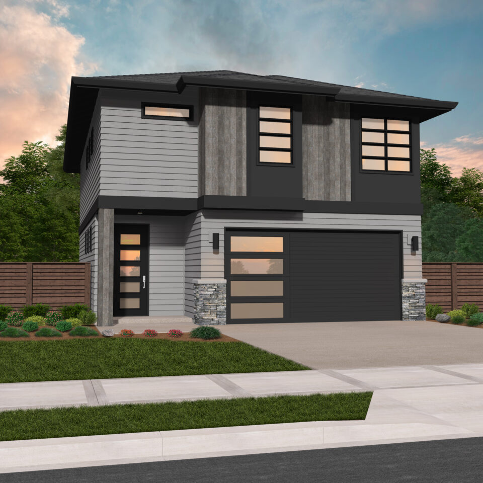 Zeta | Two Story Modern House Plan by Mark Stewart