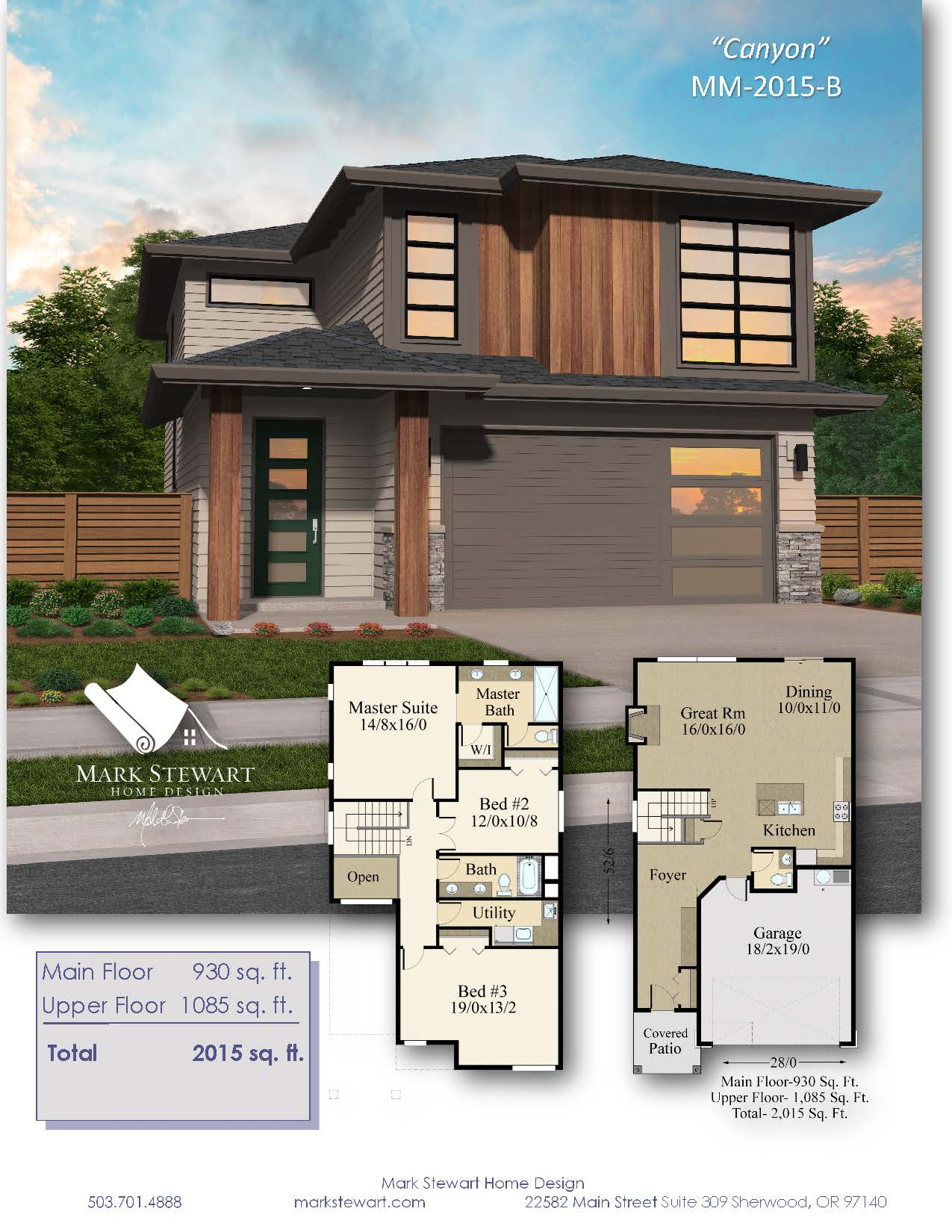 Canyon House Plan Northwest Modern House Plan By Mark Stewart