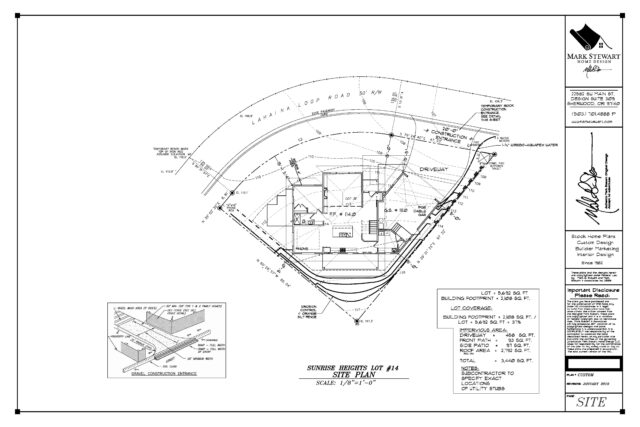 Site Plan Working Drawings