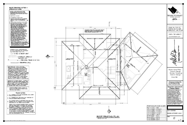 Working Drawings Roof Framing Plan