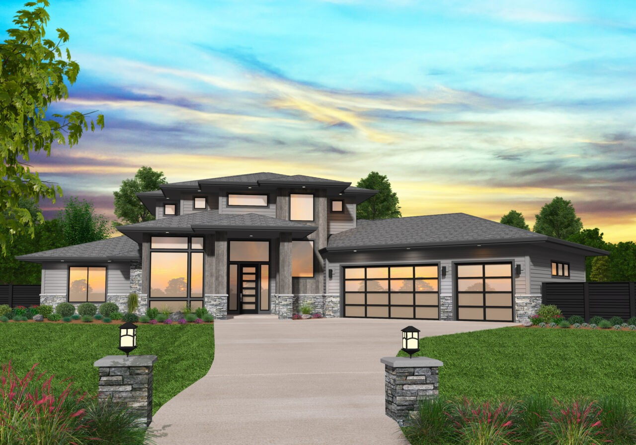 MM 3465 TALIESEN FRONT FINAL VIEW 1280x895 - 26+ Small Modern House Designs And Floor Plans South Africa  Gif
