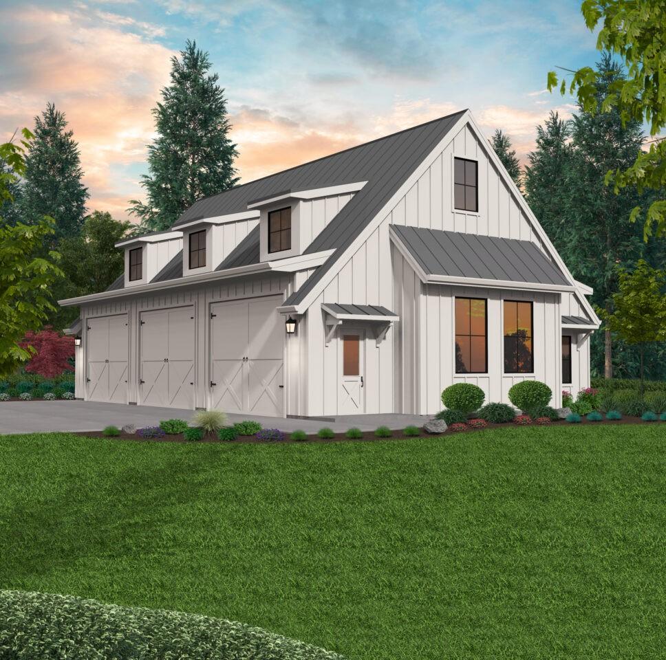 Polly | Detached Garage Plan by Mark Stewart Home Design