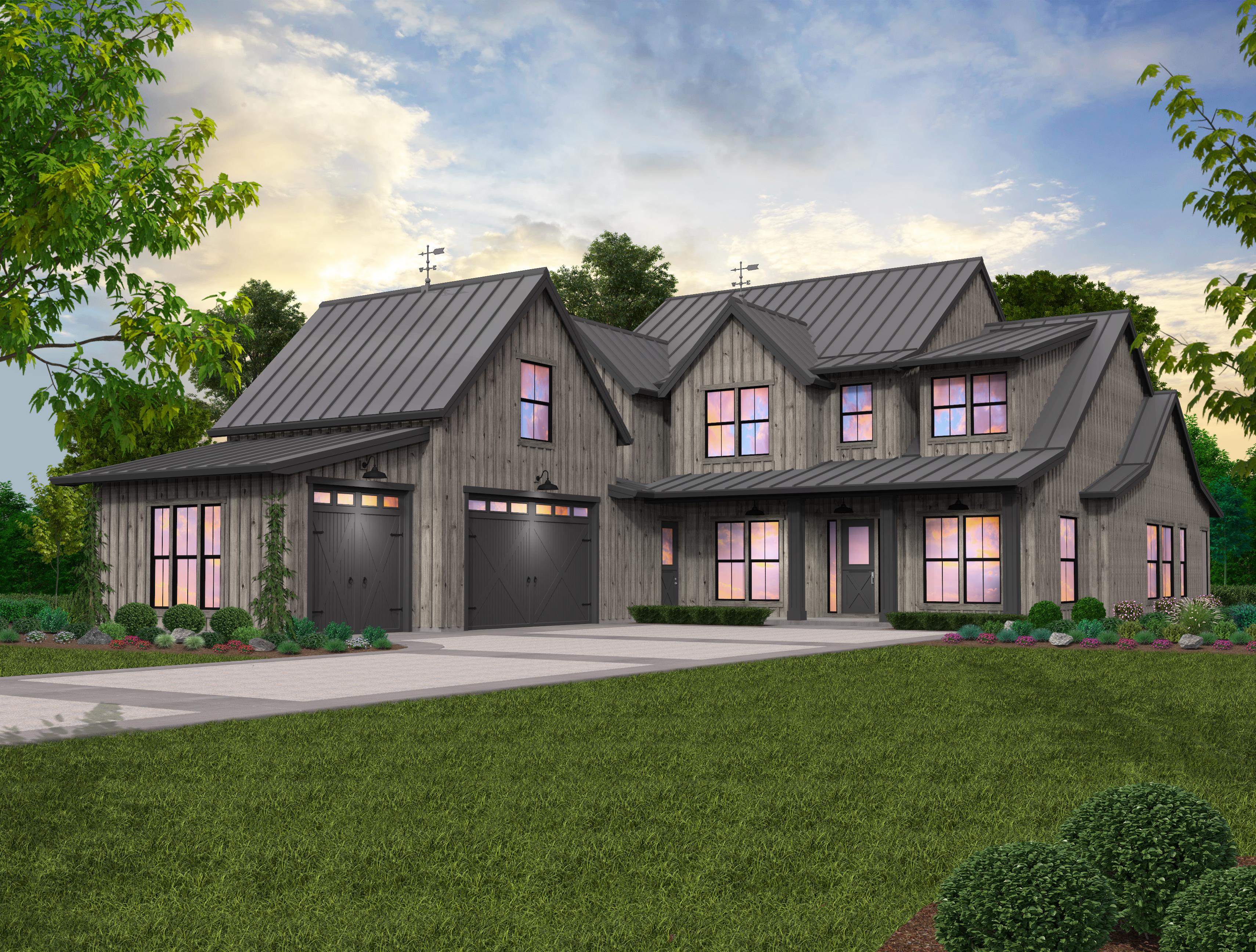Lucy Modern Farm House Plan By Mark Stewart Home Design