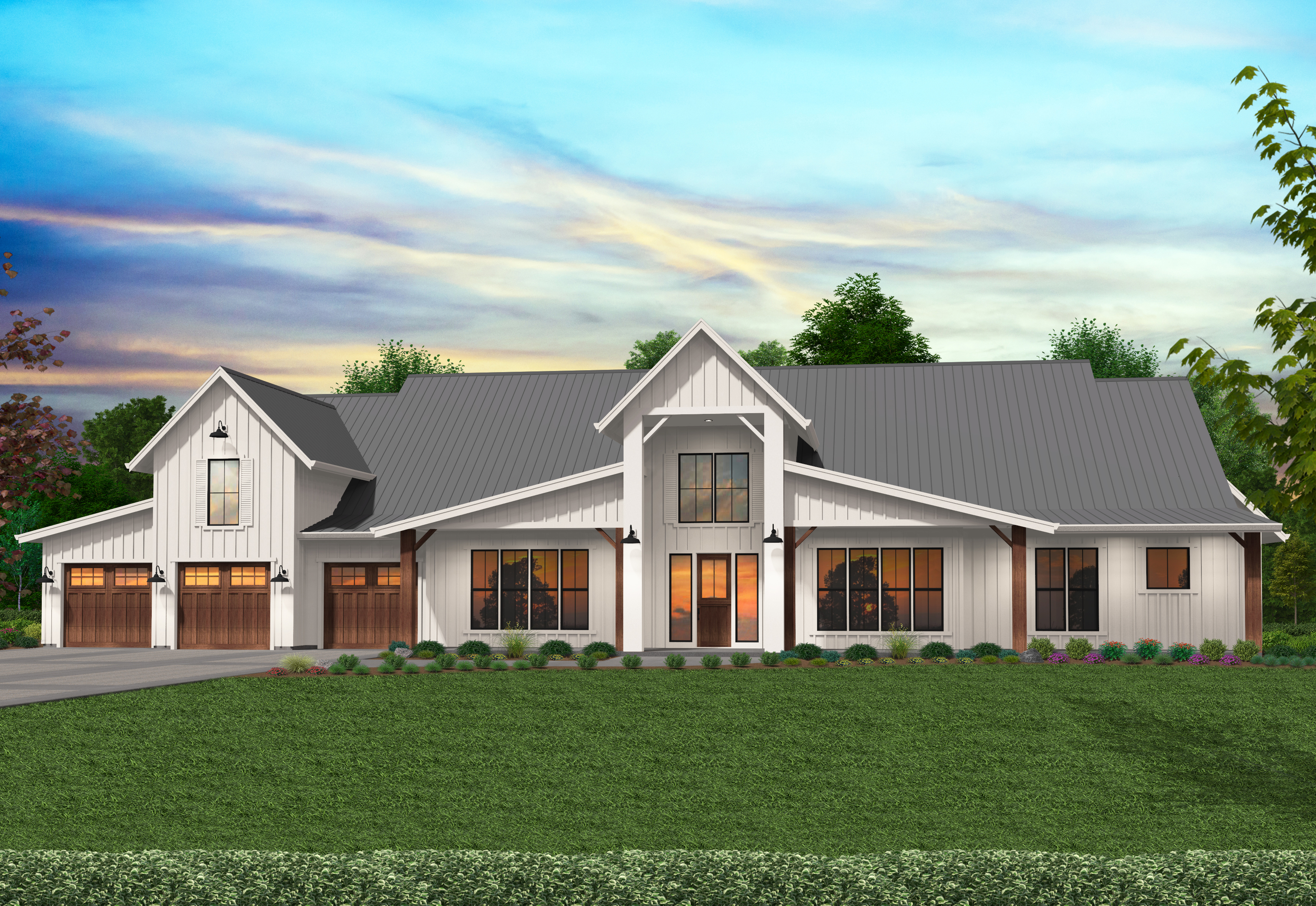 Texas Strong House Plan | Modern Barn House by Mark Stewart