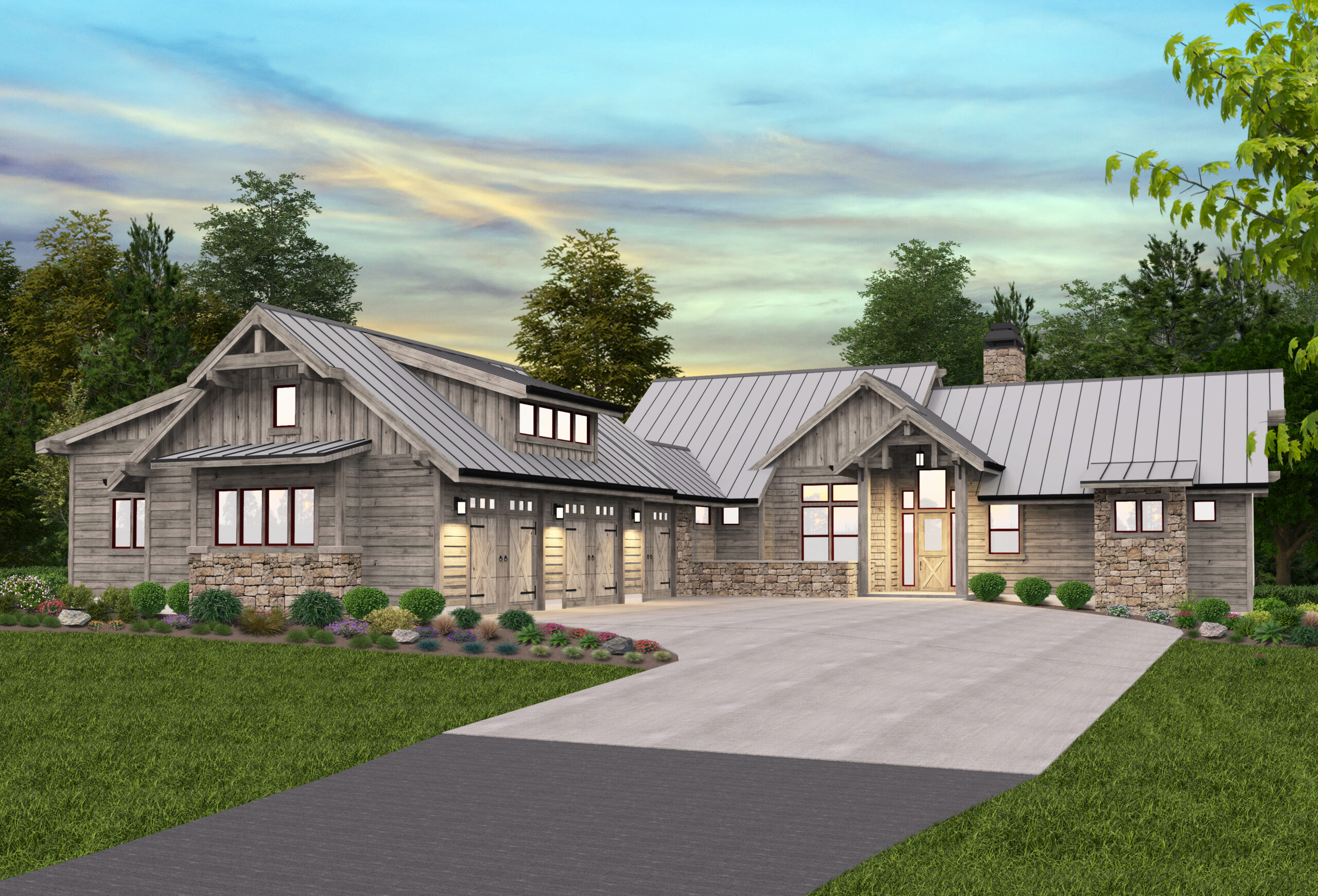 Adirondack Lodge House Plan Modern Lodge Home Design Floor Plan