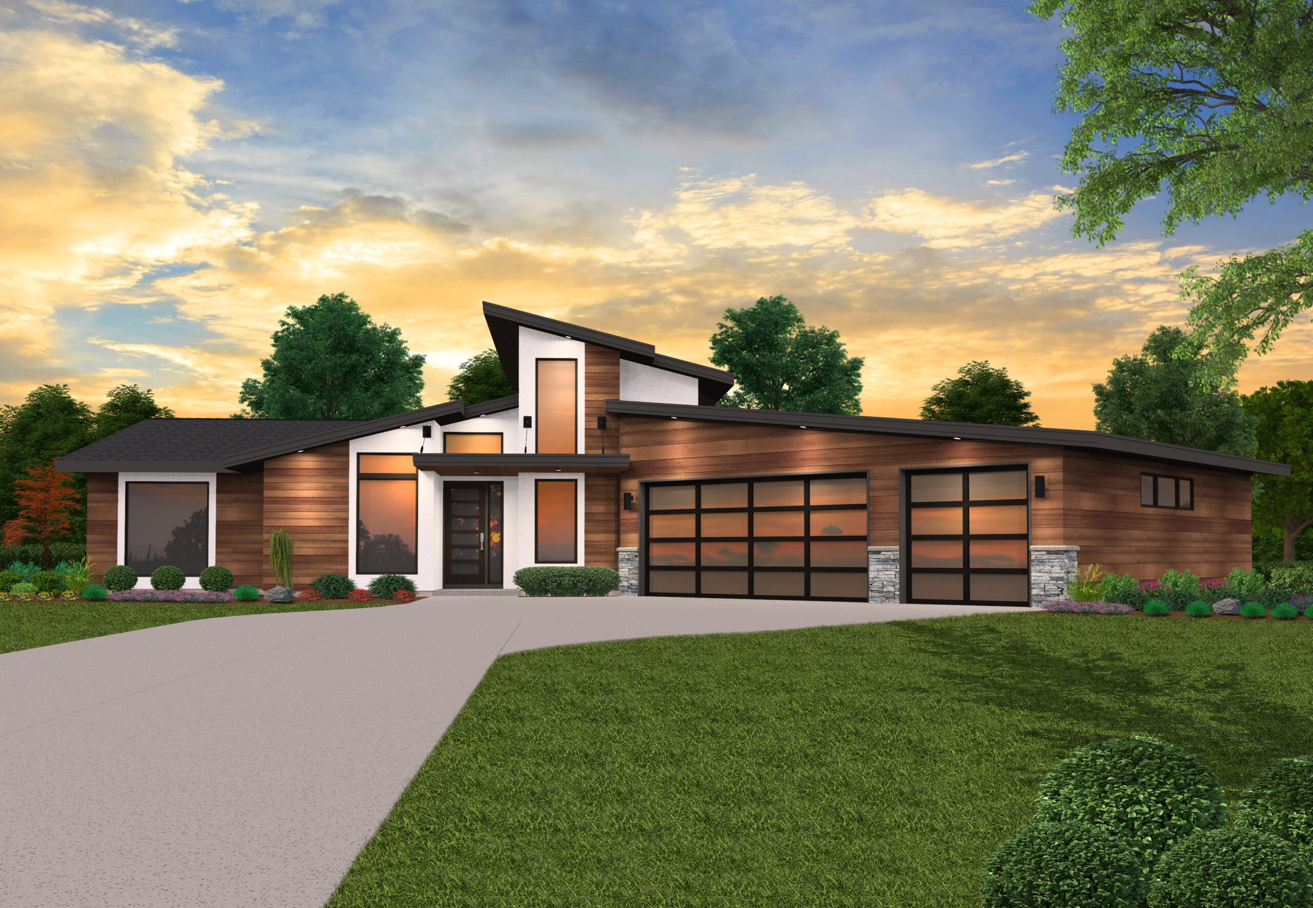 L Shaped House Plans Modern House Plans By Mark Stewart