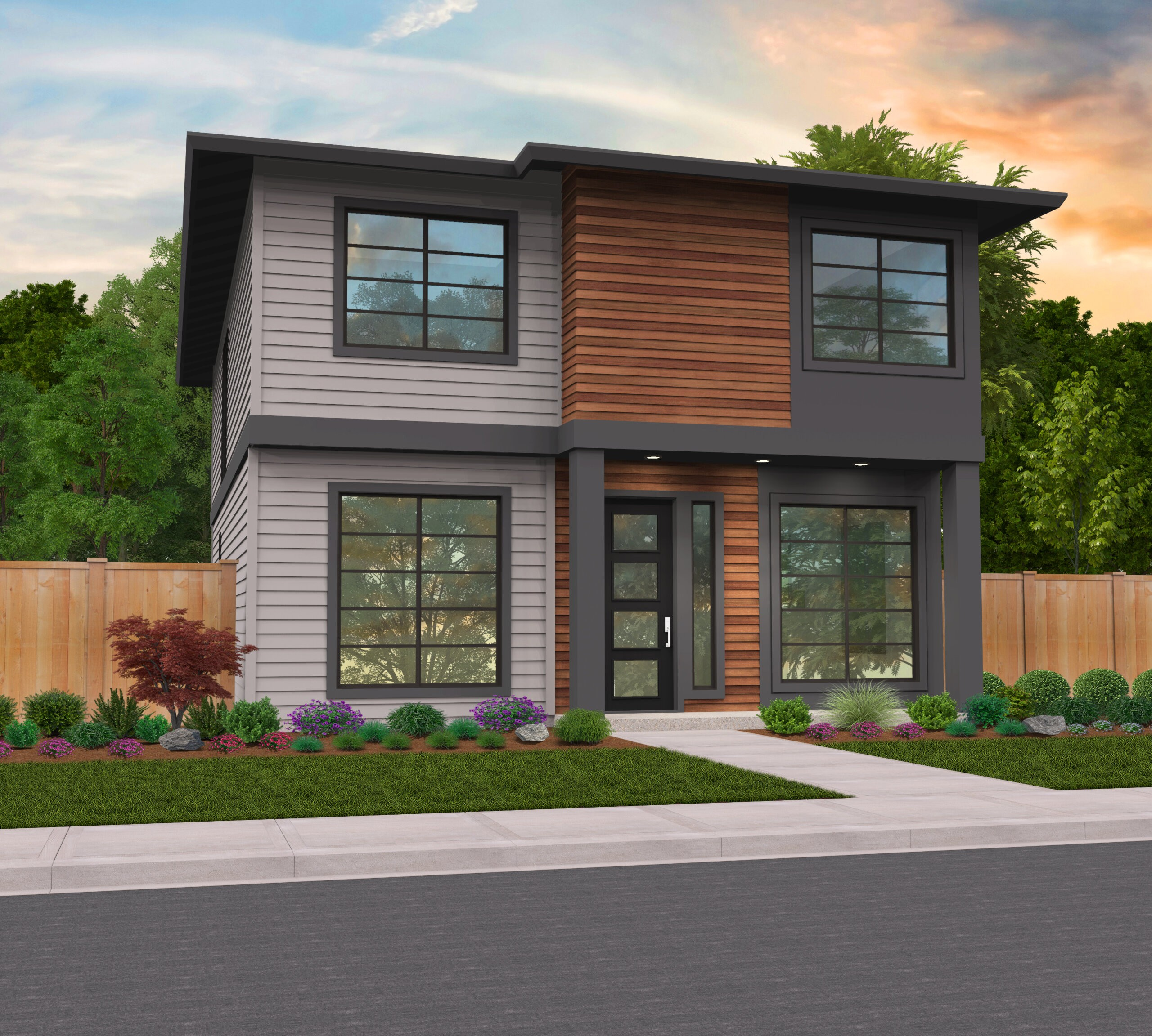 Columbia Ridge 7 | Two Story Modern House Plan by Mark Stewart