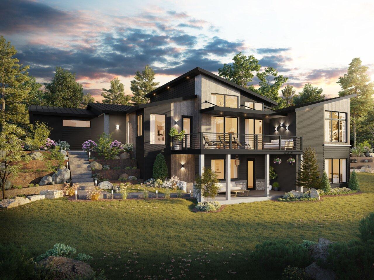 Francisco Northwest Modern House Plan By Mark Stewart