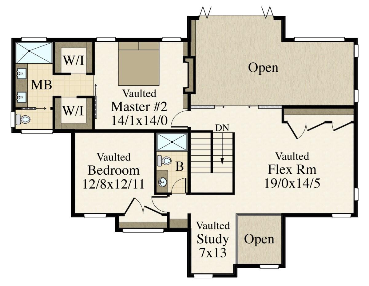 Modern 7 | Two Story Modern House Plan by Mark Stewart