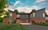 contemporary two story house plan