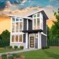 narrow two story house plan