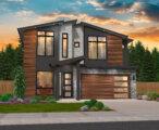 hip roof modern house plan