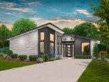 one story modern house plan
